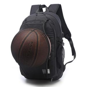 Spor Sırt Çantası Erkekler Laptop Sırt Çantası Okul Çantası Futbol Basketbol Ağ ile Genç Erkek Futbol Topu Paketi Çanta Spor Çanta Erkek İçin