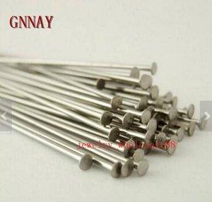 Großhandelspreis Lot 1000 stücke silber edelstahl flachkopf pin ohrring handwerk schmuck machen pins nadel 30mm / 35mm
