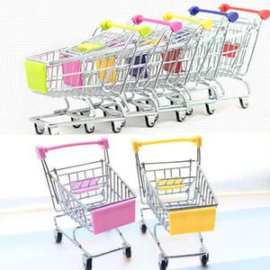 Nouveau Mini Supermarché Handcart Shopping Utility Cart Mode Stockage Panier Bureau Jouet Titulaires De Stockage De Stockage Gratuit DHL WX-C27