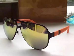 Роскошные 2252 Солнцезащитные Очки Для Мужчин солнцезащитные очки Модные Солнцезащитные Очки Wrap Sunglass Pilot Рамка Покрытие Зеркало Объектива Углеродного Волокна Ноги Лето Стиль