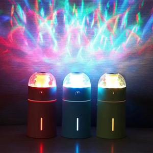 Umidificatore a proiezione magica Umidificatore ad ultrasuoni Diffusore di aromi a olio essenziale colorato USB Illuminazione notturna a LED Ambiente Umidificazione 175ml