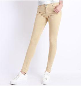 Nova Calça Jeans Feminina Calças Jeans Doce Cor Das Mulheres Jeans Donna Trecho Bottoms Feminino Skinny Pants para As Mulheres Calças de Comprimento Total