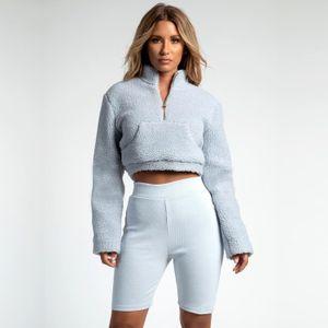 Dolcevita Donna Maglioni in misto cashmere Donna Casual Inverno Zipper Pocket Design Felpe Tops Donna Felpe Tinta unita Abbigliamento