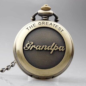 Antique Old Vintage Pendant Necklace Pocket Watch Chain Best Gift For Grandpa, Collana Classic Pocket Watches Per Papà Papà Papà