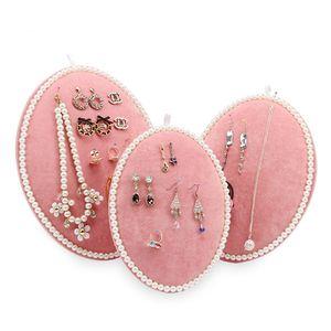 Catena rosa Velvet collana / Tonvic all'ingrosso grigio / nero del braccialetto Display Stand Holder Jewelry Consiglio