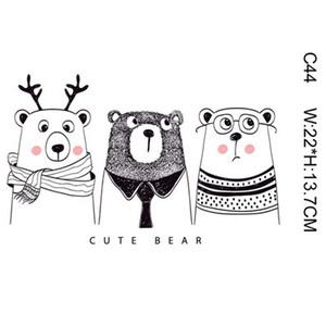 Малыш магия наклейки мультфильм медведь дорогой животных DIY наклейки для футболки смешные патчи железо на Трансферы Патчи для одежды