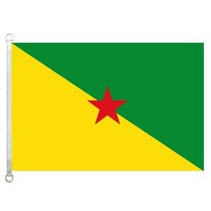 Französisch-Guayana Flagge, 90 * 150cm, 100% Polyester, Banner, Digitaldruck