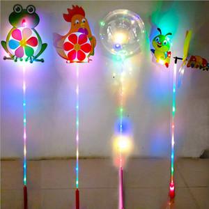 KIDS LED لعب الكرتون طاحونة الملونة يلة الدولاب على الهواء أضواء بيع زهرة الكلب حيوان أليف لعبة أطفال طفل الفتيان الفتيات عجلة مروحة حزب زخرفة