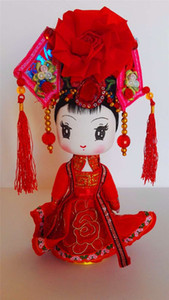 The characteristics of Yunnan minority ethnic handicrafts doll 56 colorful wooden doll ornaments awa