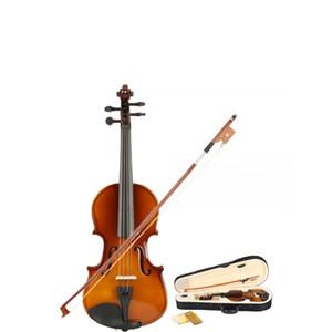 1/8 Violino acustico naturale con custodia, arco, colofonia per bambini