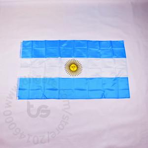 Argentinien Nationalflagge Freies Verschiffen 3x5 FT / 90 * 150cm Hängen Argentinien Nationalflagge Home Decoration Flagge Fahne