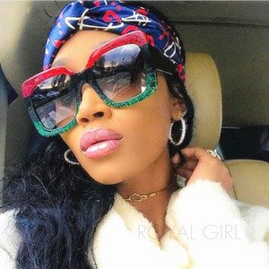 Marca Designer Retro Sunglasses Retro clássico Mulheres Óculos Mulheres Luxury Vintage Oversize Acetate Sunglasses Ss825-1