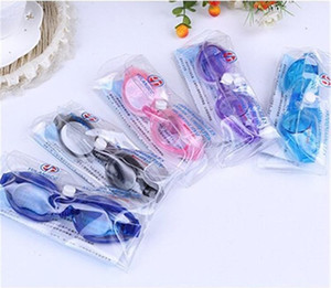 Children Kids Boys Girls Antifog Waterproof High Definition Swimming Goggles Diving Glasses With Earplugs Swim Eyewear Silicone DHL FREE