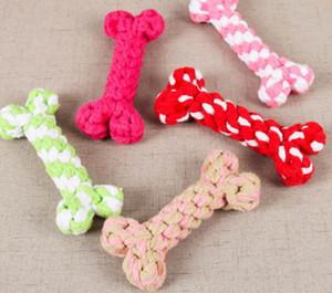 개 장난감 씹는 뼈 밧줄 애완 동물 강아지 장난감 색상 뼈 유형 색상 뼈 유형 애완 동물 강아지 씹는 장난감 17cm DHL 무료