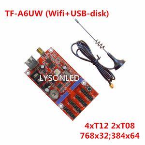 LYSONLED Speicial Oferta LongGreat TF-A6UW WIFI + controlador USB Controlador inalámbrico de pantalla LED, F3.75 F5.0 P10 LED Display Card