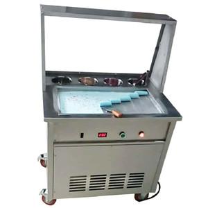 BEIJAMEI Thai kızarmış dondurma rulo makinesi 55 * 30 * 2.5 cm kare tava dondurma haddelenmiş yoğurt makinesi 110 v / 220 v