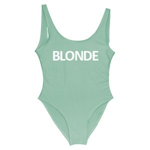 BLONDE 2018 Women One Piece Swimsuit Sexy Bodysuit Swimwear 11 Colors Red Swim Suit Backless Mayo Monokini Sexy Badpak One-Piece YWXK