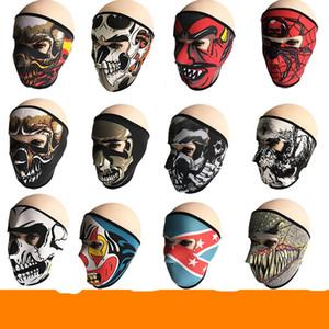 Neue Muster Schädel Gesichtsmaske Farben Halloween Kostüm Party Im Freien Motorrad Halten Warme Schal Ski Snowboard Sport Handtuch 6fd W