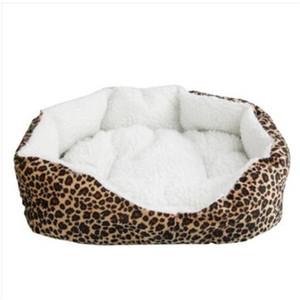 Wholesales !!! 부드러운 목화 애완견 개 강아지 따뜻한 워털루 침대 둥지 패드 표범 인쇄 강아지 집 사육 액세서리