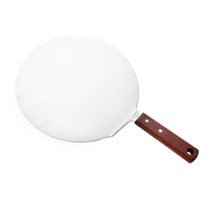 Baking tools wooden handle stainless steel cake circle shovel western steak pizza cheese cutter shovels