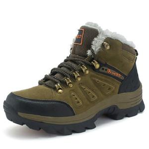 Big SIze EU 47 Botas de invierno para hombres Botines de nieve de tobillo Zapatos de piel caliente de felpa con cordones Top High Fashion Mens Shoes a la venta Toda la venta
