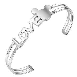 El regalo del día de San Valentín de joyería de moda de alta calidad 925 plateado AMOR pulseras envío gratis 10 unids / lote