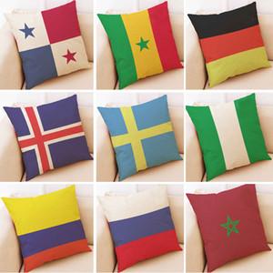 45 * 45 cm bandiera del paese copertura della cassa del cuscino 32 calcio calcio logo copertura di tiro cuscino casa auto divano decor club hh7-958