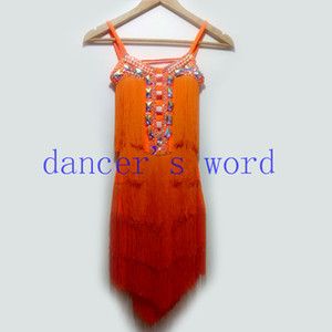 New style latin dance costume sexy diamond tassel latin dance competition dress for women child dresses S-4XL F26