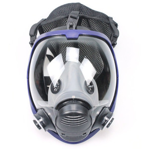 TSAI Full Face Outdoor Cycling Mask Respirator Gas Mask Anti-dust  Safety with Cotton Filter for Industry Painting