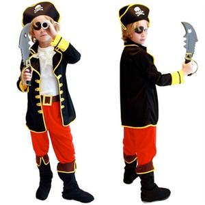 Costumi di Halloween Kids Boys Pirate Costume Cosplay set per bambini Natale Capodanno Purim For Kids Children (senza armi) Y1891202
