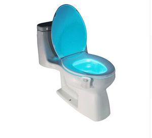 1Pcs Sensore di movimento PIR Toilet Seat Novità Lampada a LED 8 colori Cambio automatico a induzione Luce per la ciotola