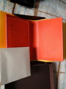 أزياء العلامة التجارية تصميم جي جواز السفر حقيبة حامل البطاقة الجلود الحقيقي مع مربع الغبار ورقة العلامات