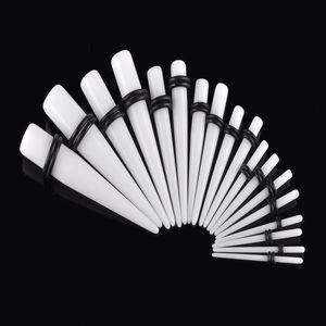 Stretchers Ohr Piercing Schmuck Mode Ohrring Taper Plugs Tunnel Stretching Weiß Acryl 1,6-10mm