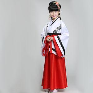 DJGRSTER 2018 Neue Stil Mädchen Alten Chinesischen Traditionellen Nationalen Kostüm Hanfu Rot Kleid Prinzessin Kinder Hanfu Kleider