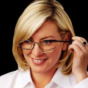 Women Make-up 2.5x Magnifying pocket mirror maquiagem espelho  Eye Alloy Glasses Spectacles Flip Down Lens Z2037