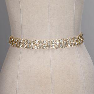Cintos De Casamento De Cristal Artesanal de Ouro de Prata Strass Cinto De Vestido De Noiva Formal Do Casamento Acessórios de Noiva Faixa De Sash Belt CPA1393