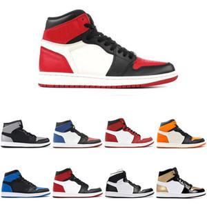 Mens 1 Off OG barrette della punta del piede Nero Bianco Scarpe da basket da uomo Mens chicago Golden Harves unc Sneakers da ginnastica Sport Sneakers Scarpe