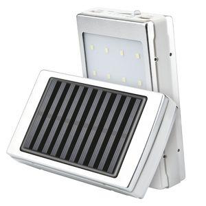태양 광 LED 휴대용 듀얼 USB 전원 은행 전화에 대한 5x18650 외부 배터리 충전기 DIY 박스 휴대용 충전이 외부를 poverbank 상자