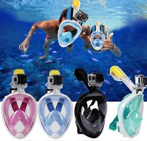2019 Underwater Diving Mask Snorkel Set Nuoto Training Scuba mergulho maschera facciale per lo snorkeling Anti Fog No Camera 6 colori