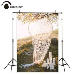 photographie en gros photocall décors blanc Dreamcatcher sunset candle ourdoor mariage backdrop vintage studio studio