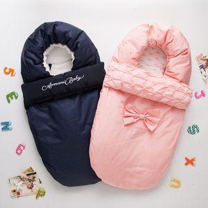 Poussette bébé mignon Sac de couchage pour bébé nouveau-né Sac de couchage Footmuff Épaissir chaud poussette SleepSack