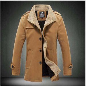 Neue Wollmantel Herrenbekleidung langen Abschnitt Jugend Nizi Winterjacke blusa masculina inverno abrigos hombre invierno hombre