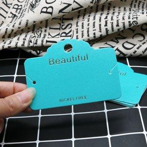 Mostra Carte collana Carta orecchini di carta Kraft gioielli di alta qualità 8.5x6.1cm Imballaggio Carta Tag in grado di personalizzare il logo a buon mercato