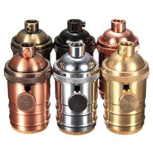 E26 / E27 Vintage Edison Lampenfassung aus massivem Messing Lampenfassung 6 Ausführungen Industrieanhänger Bulb 2 Way Knob Bases