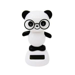 Hot Solar Panda Dolls Panda Shake Head Giocattoli Car Interior Decoration Bambola ABS Sun Ray Energy Creative Christmas Gift Panda Dolls