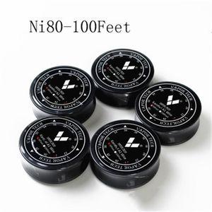 Genuine Vaportech Nichrome 80 wire 100ft / 30ft 20/22/24/26/28/30/32 gauge Nichrome 80 coil coil coil di resistenza