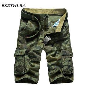 Bsethlra 2017 Yeni Kargo Şort Erkekler Yaz Üst Tasarım Kamuflaj Askeri Rahat Şort Homme Pamuk Moda Marka Giyim