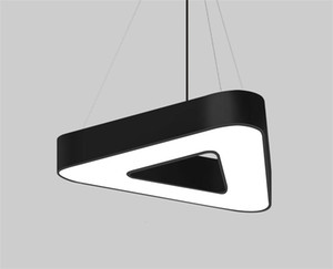 Creativo Ufficio sospensione Lights triangolo lampada a sospensione di forma moderna di stile per il salone di studio Home Camera di illuminazione nuovo sviluppo