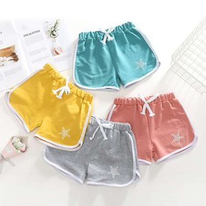 2018 summer new children's beach pants boys and girls star cotton casual shorts