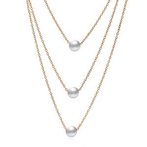 2018 nouveau Multi couche Layer Womens Pearl Choker déclaration collier pas cher bijoux chaîne de chandail de clavicule chaîne